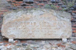 Plaque on the Roman Wall