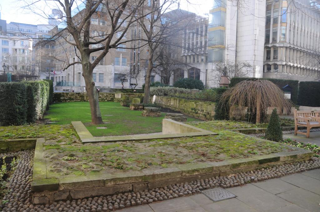 The garden of St Mary Aldermanbury