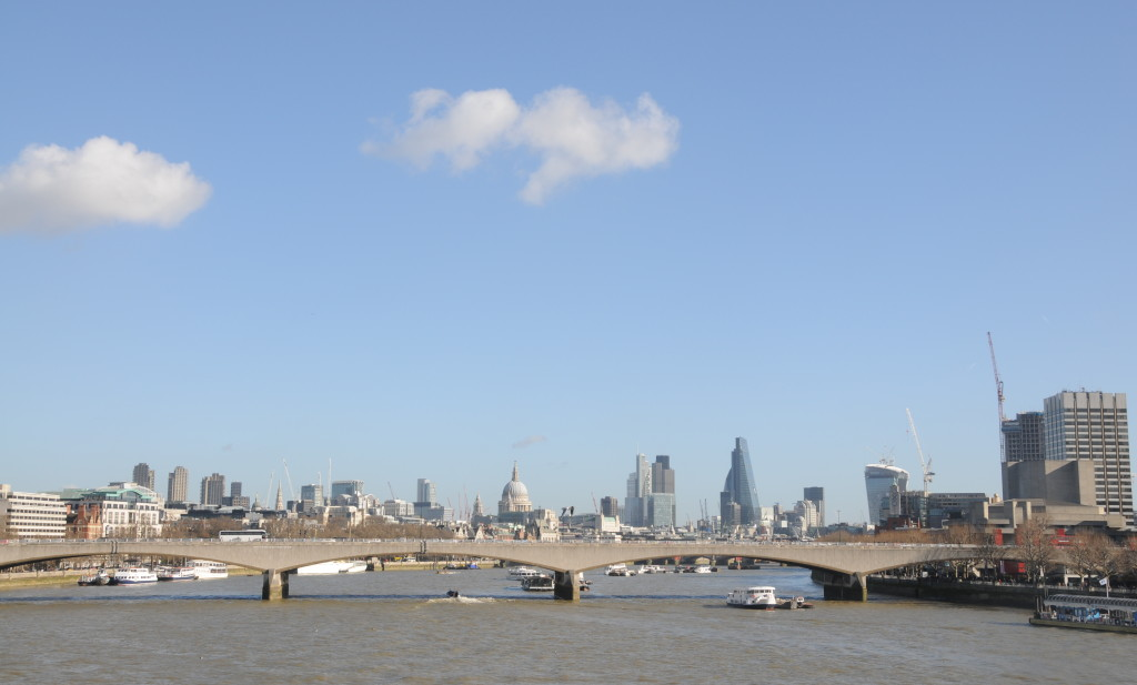 Looking east along the Thames - 2014