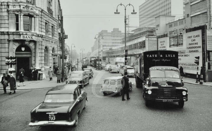 Euston Road (Looking East From Hampstead Road) - 1961