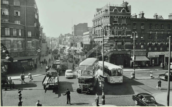 Euston Road (Looking West From Hampstead Road) - 1961