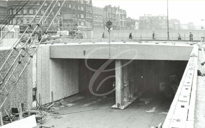 Euston Road Underpass Construction - 1966 (01)