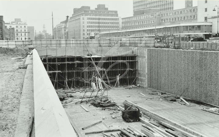 Euston Road Underpass Construction - 1966 (02)