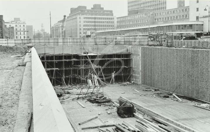 Euston Road Underpass Construction - 1966 (02)