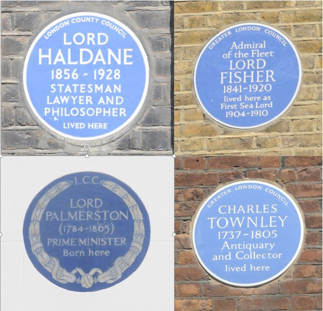 Blue Plaques all