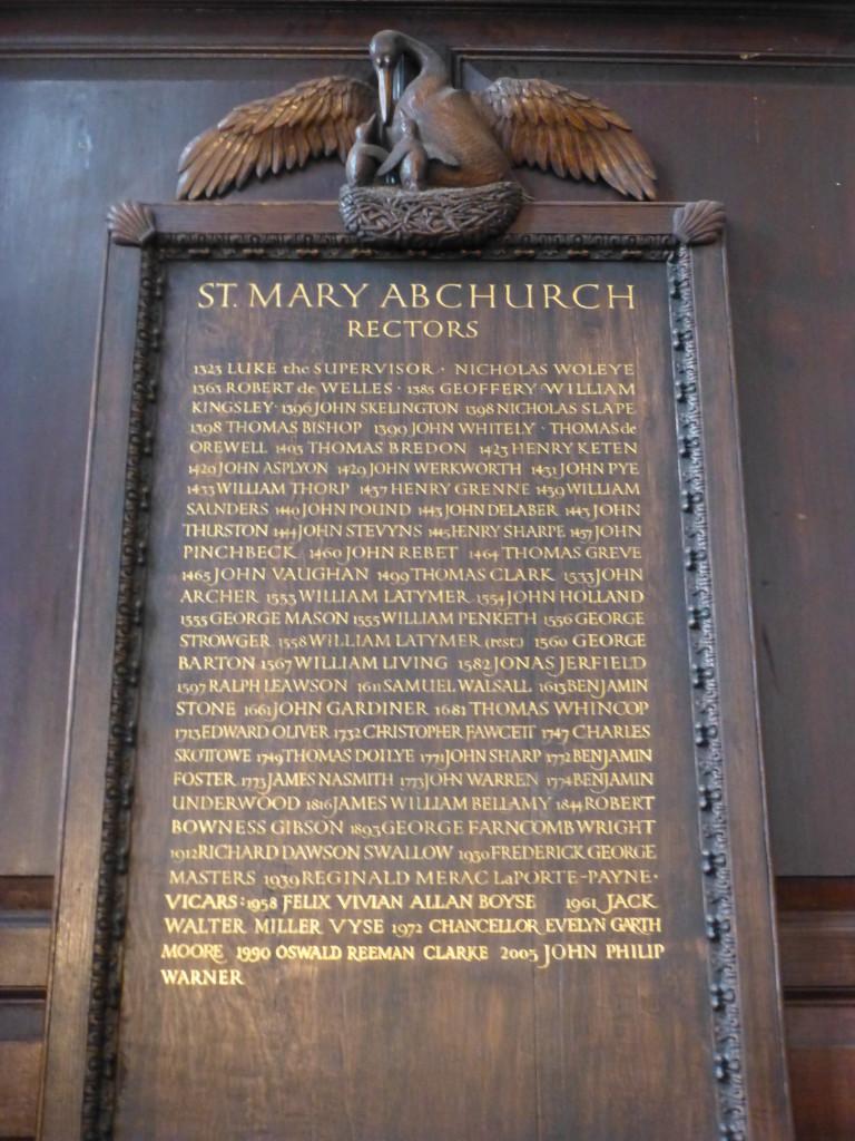 Abchurch rectors 1