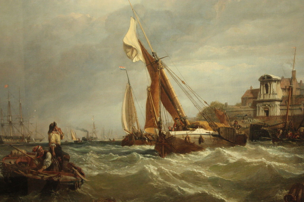 Tilbury_Fort_-_Wind_Against_Tide_by_Clarkson_Stansfield,_1849