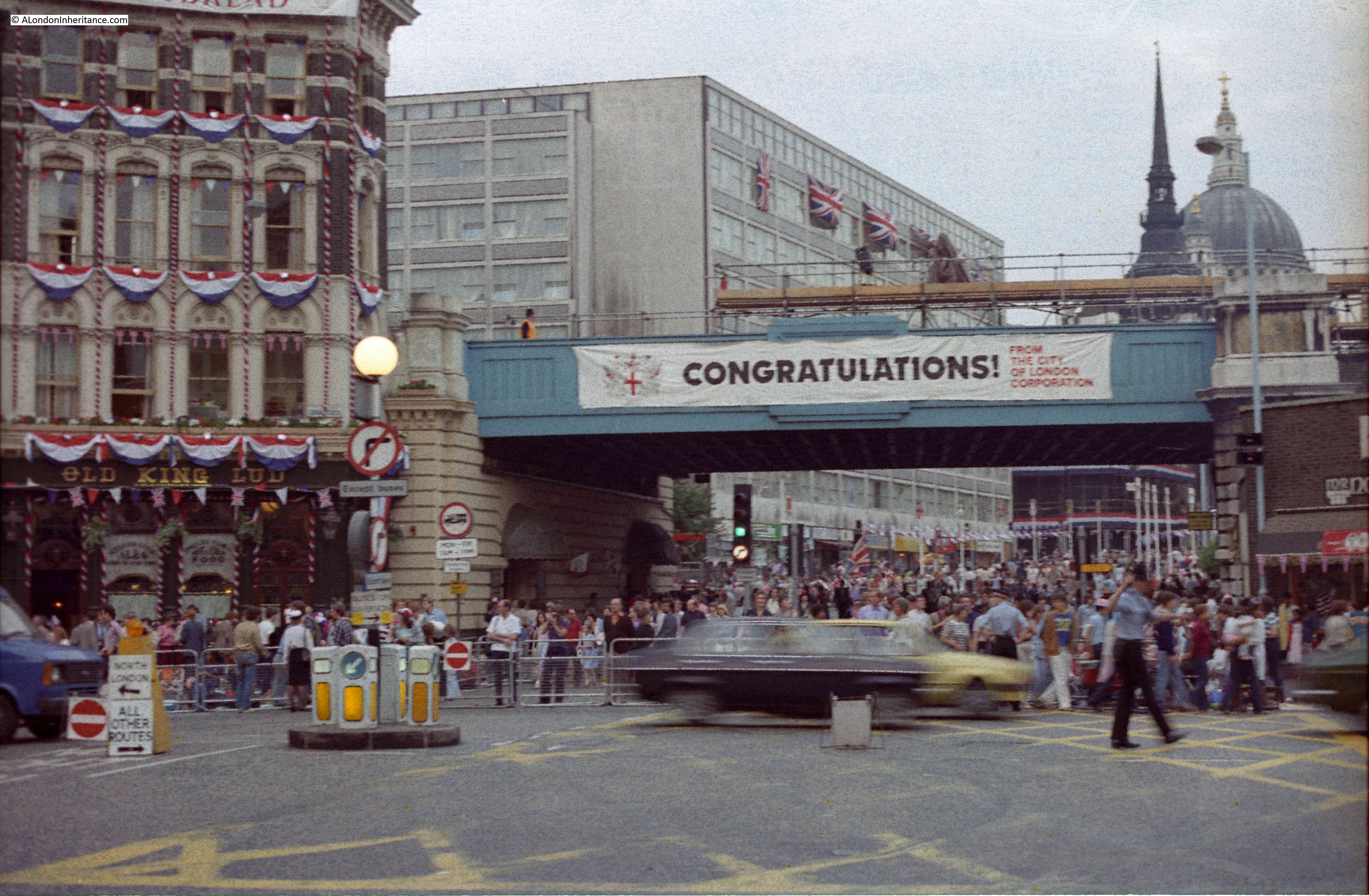 walking the streets on the evening before the 1981 royal wedding