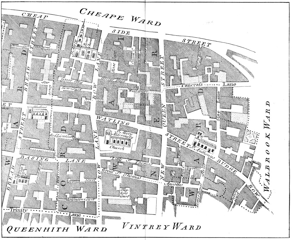 cordwainer Map 1755