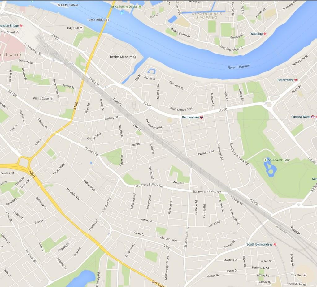 New Bermondsey Map 1