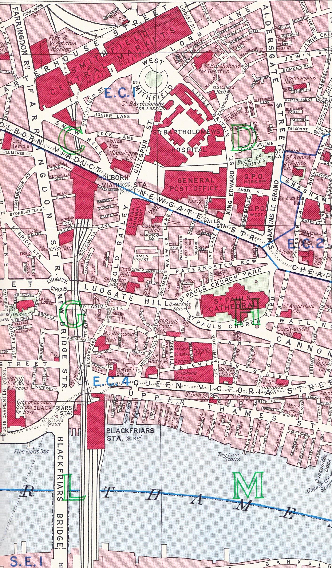 London Atlas Map.London Maps A London Inheritance