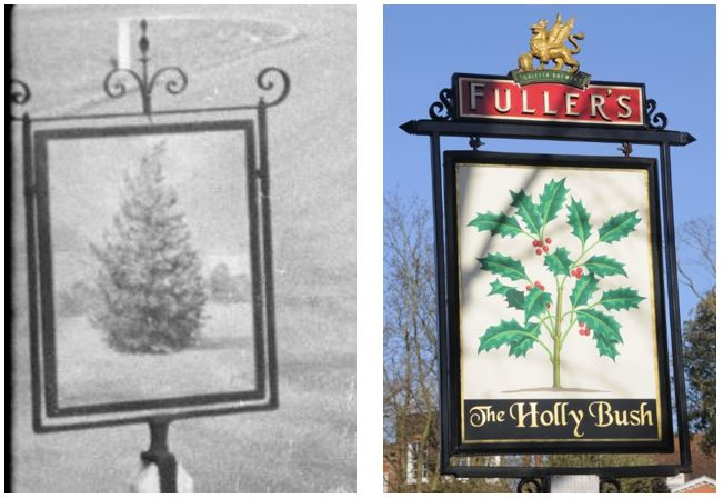old and new pub signs