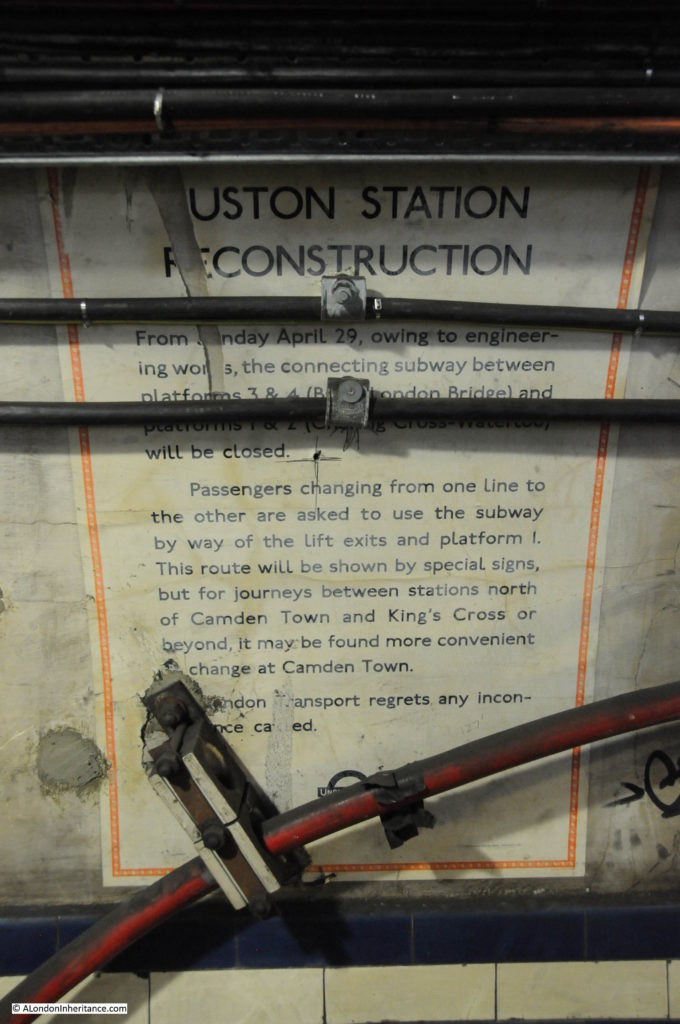 Euston Underground Tunnels 6