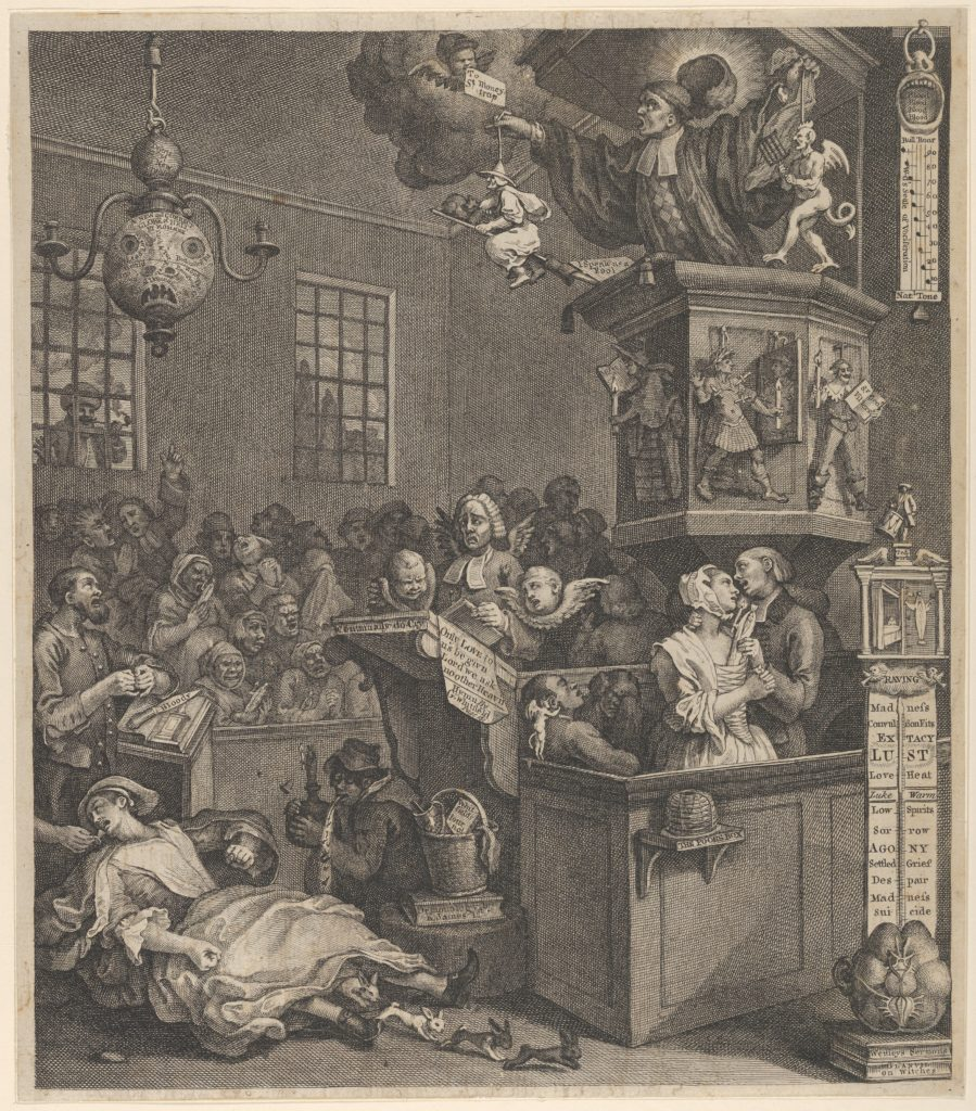 William Hogarth (British, London 1697–1764 London) Credulity, Superstition, and Fanaticism, March 15, 1762 British, Etching and engraving; second state of two?; sheet: 14 5/8 x 12 3/4 in. (37.1 x 32.4 cm) The Metropolitan Museum of Art, New York, Harris Brisbane Dick Fund, 1932 (32.35(151)) http://www.metmuseum.org/Collections/search-the-collections/400102