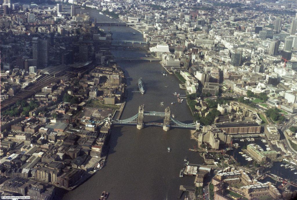 Flying over London