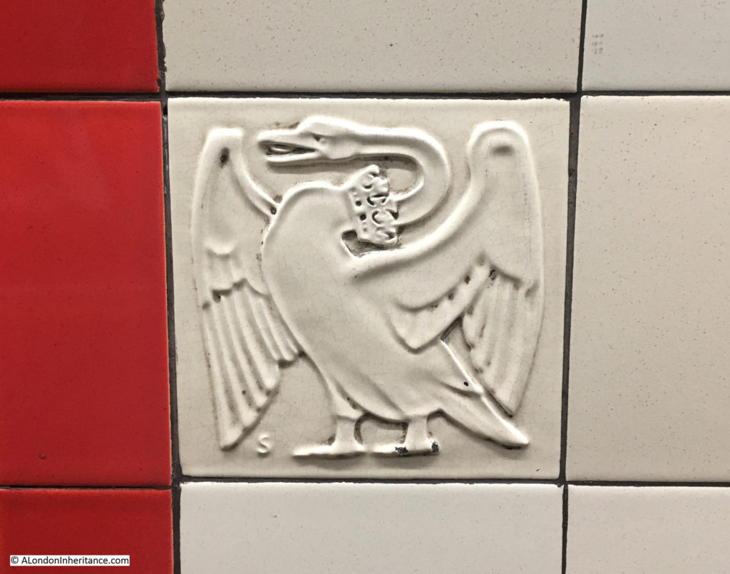Tiles at Bethnal Green Underground Station
