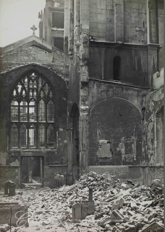 Two bombed churches