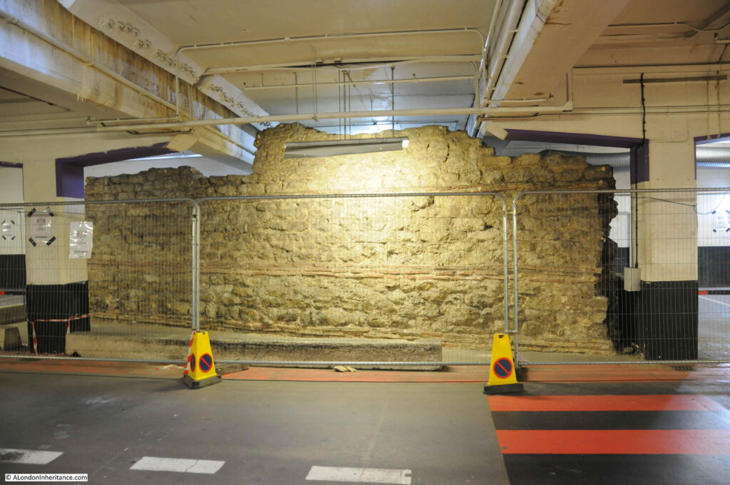 Roman wall in a car park