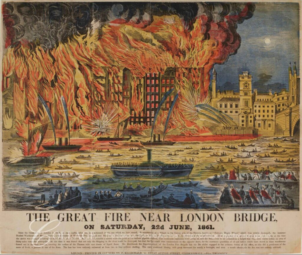 Great Fire at London Bridge
