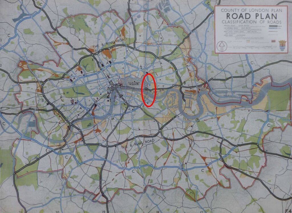 County of London road plan