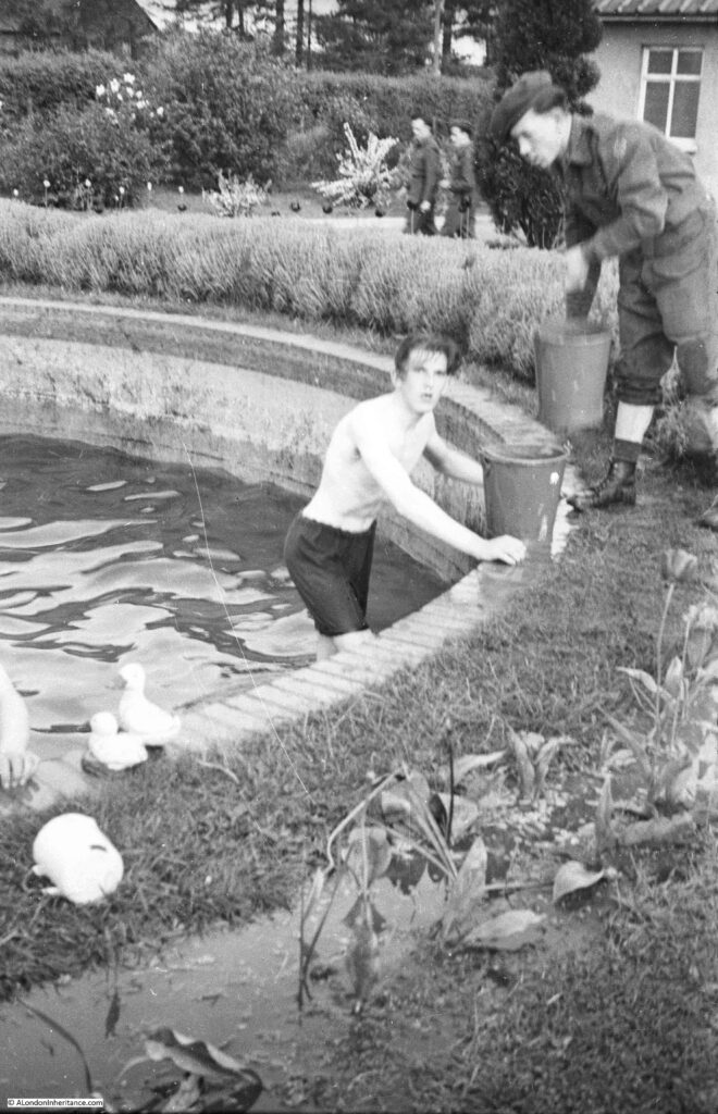 Cleaning the pond